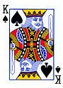 Pik König eines Pokerblatts
